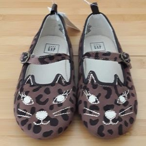 Baby GAP Toddler Size 9 Kitty Cat Flats Shoes